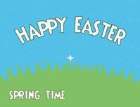 post volante para tarjeta de Felices Pascuas Folheto (US Letter) template