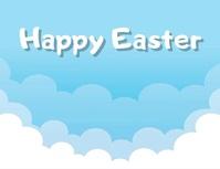 post volante para tarjeta de Felices Pascuas Ulotka (US Letter) template