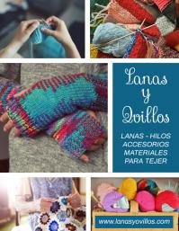 post volante para venta de Lanas y Ovillos Ulotka (US Letter) template