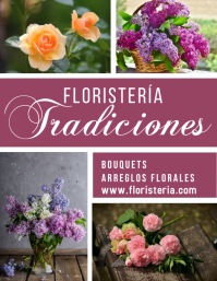 post volante para Ventas de Floristería Flyer (format US Letter) template