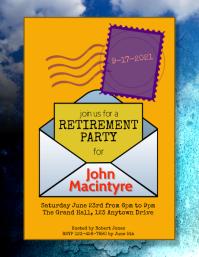 postal office retirement party flyer Рекламная листовка (US Letter) template