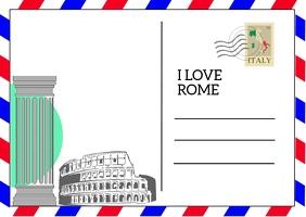 Postcard Postal template
