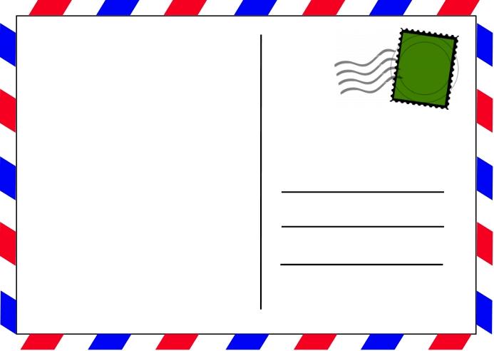 Postcard Postkort template