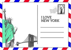 Postcard Briefkaart template