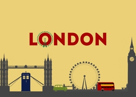 PostCard - London template