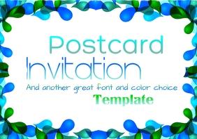 Postcard Template Postkarte