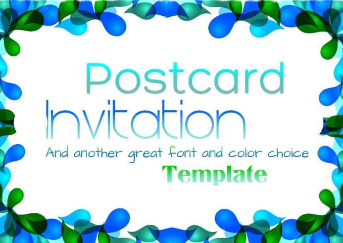 Postcard Template 明信片
