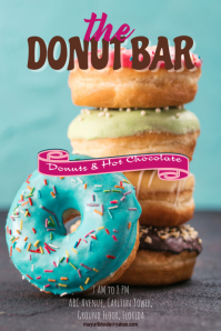 Poster, bakery, donut