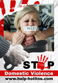Poster against domestic Violence A4 template