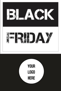 Poster Black Friday Плакат template