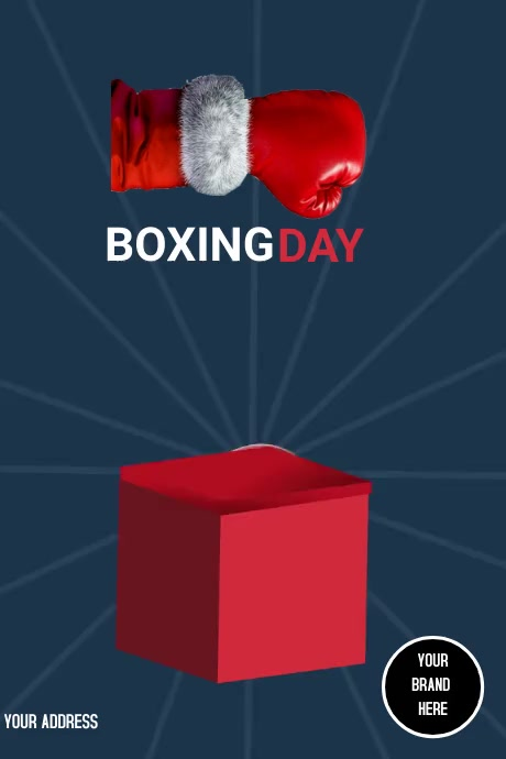 Poster Boxing Day Plakat template