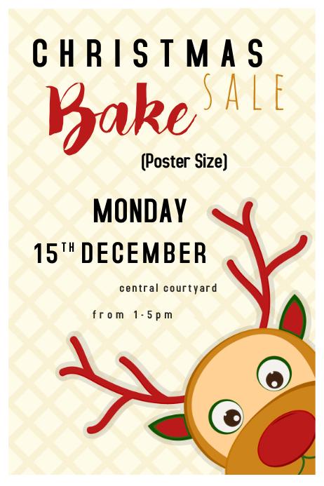Poster Christmas Bake Sale