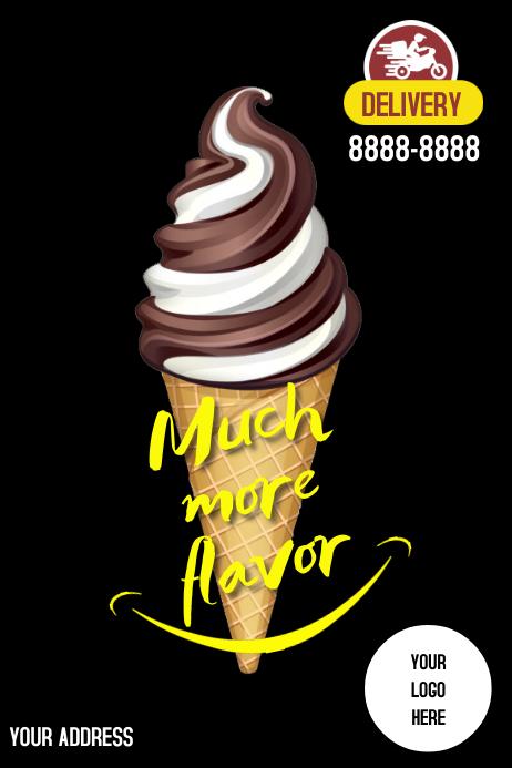 Poster Dessert template