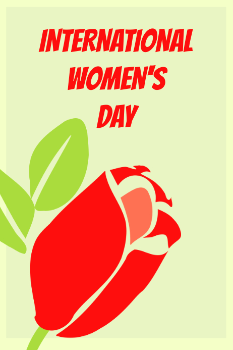 Poster for International Women's Day