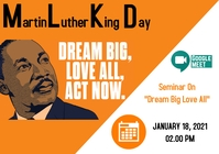 Poster for Martin Luther King Jr. day A4 template
