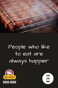 Poster Hot dog Плакат template