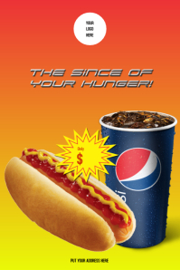 Poster Hot dog with Pepsi
