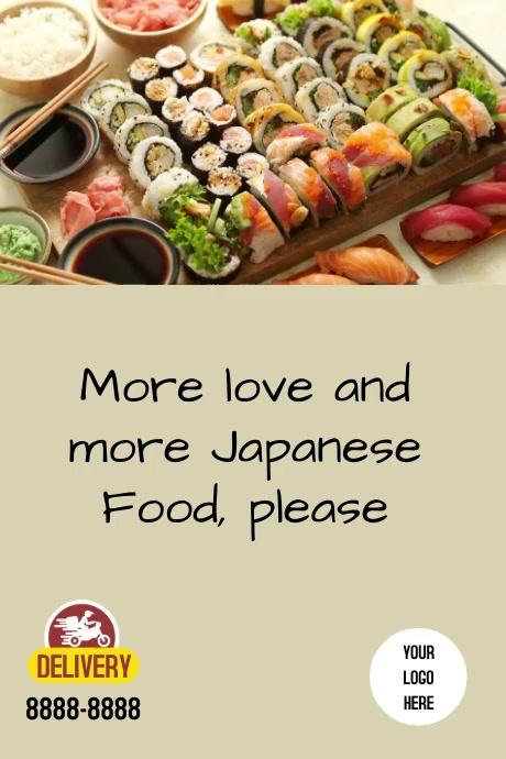 Poster Japanese food Plakat template