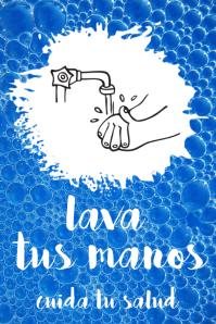 Poster motivador LAVA TUS MANOS