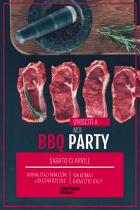 poster per bbq, poster ristorante, bbq party