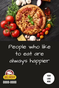 Poster Pizza Iphosta template