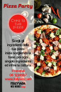 poster pizza food