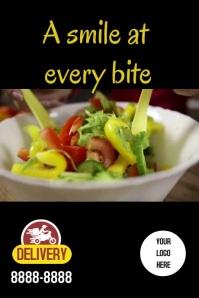 Poster Smile salad Plakat template