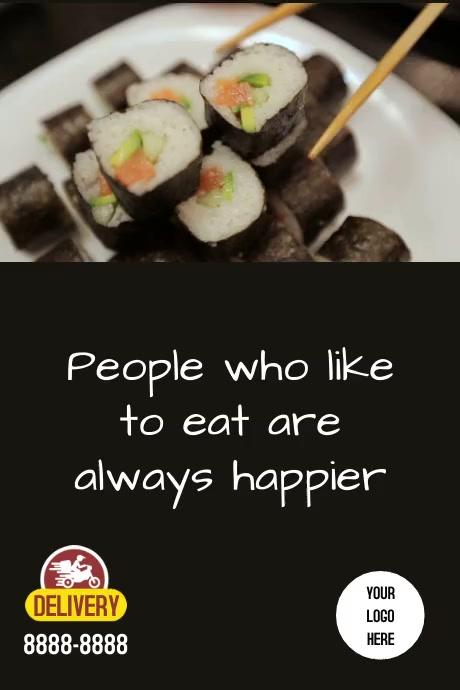 Poster Sushi Plakat template