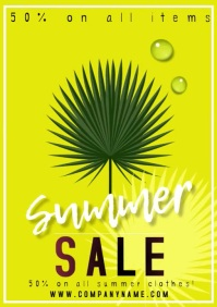 poster template flyer summer sale A4