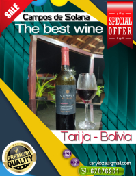 poster vino Folder (US Letter) template