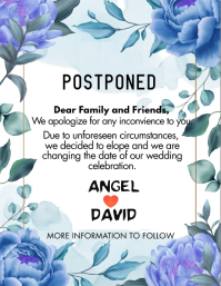 Postpone Wedding Flyer