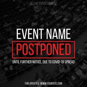 Postponed Event Coronavirus Instagram fb template