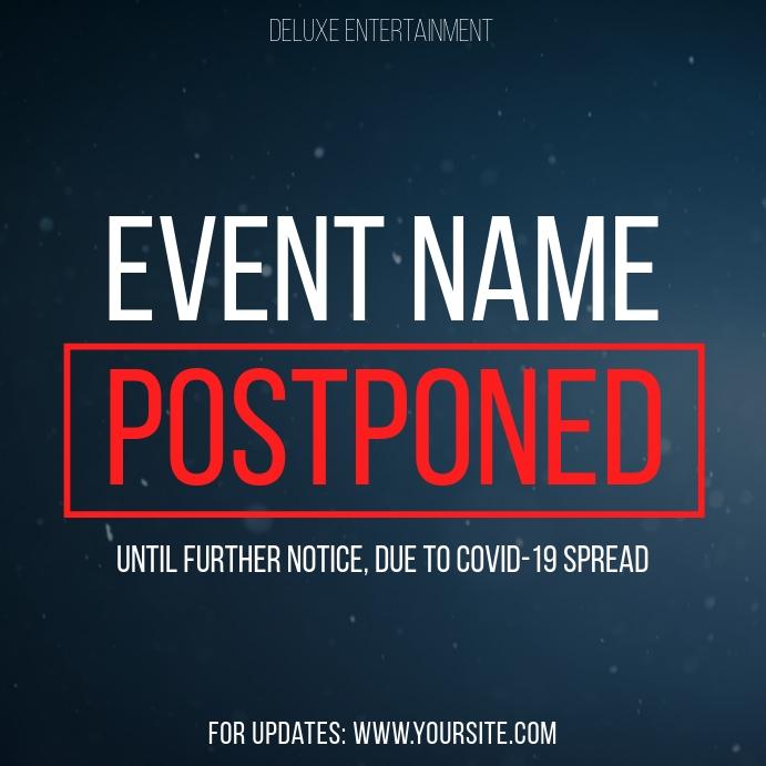 Postponed Event Coronavirus Instagram Post template