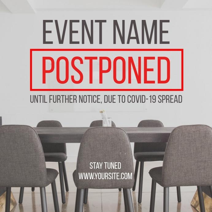 Postponed Event Coronavirus Social Post โพสต์บน Instagram template