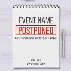 Postponed Event Coronavirus Social Post Note template