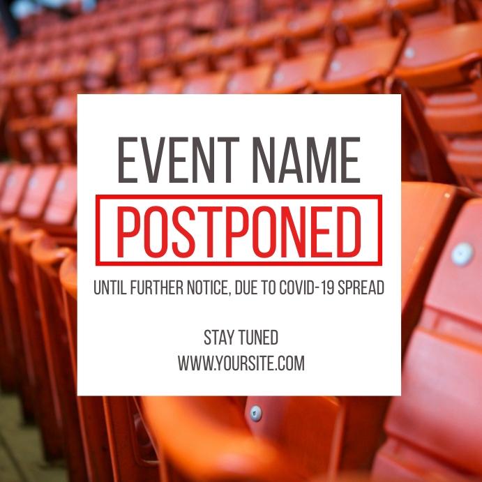 Postponed Event Coronavirus Social Post Seats โพสต์บน Instagram template