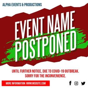 Postponed Event Notice Social Media Post Ad template