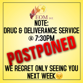 Postponed notice template