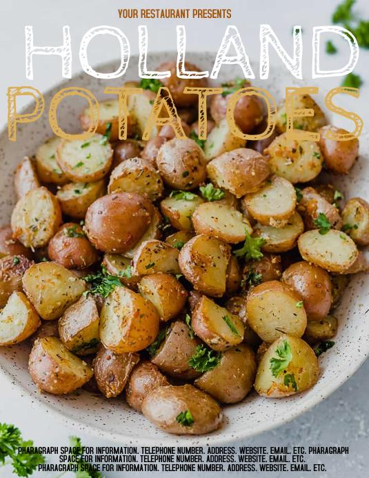 Potato Flyer Template