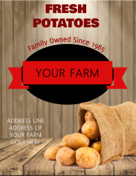 Potato Flyer Template