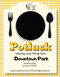 customizable design templates for potluck party postermywall