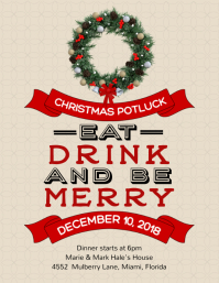 Free Printable Christmas Party Flyers Postermywall