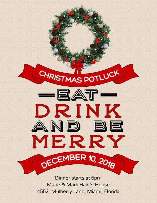 Potluck Invitation with Quote Flyer