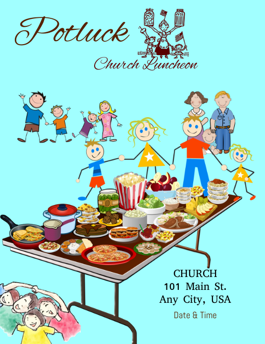 potluck luncheon flyer template postermywall