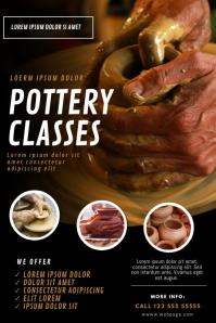 pottery classes Flyer design template
