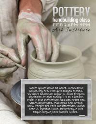 pottery handbuilding instruction class flyer template
