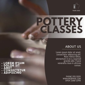 Pottery Lessons Video Ad Template