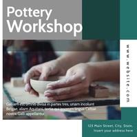 pottery workshop video advertisement instagra Instagram Post template