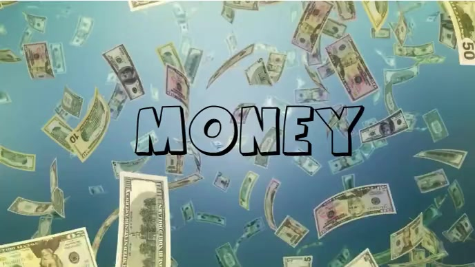 Pouring money dollar video YouTube 缩略图 template