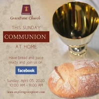 Pouring wine online communion service instagr Square (1:1) template